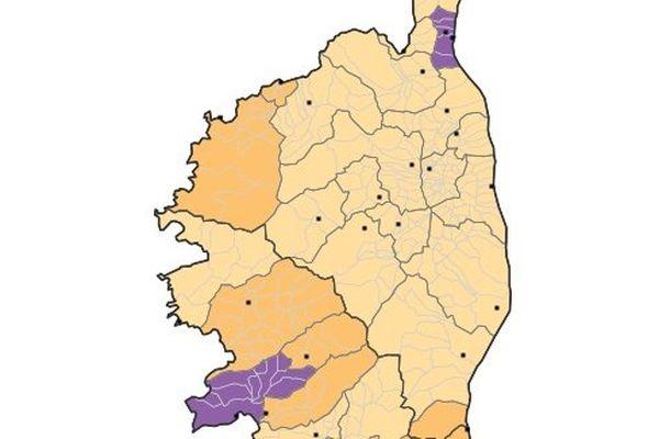 Nature juridique des EPCI à fiscalité propre au 1er Avril 2014 - Région : Corse