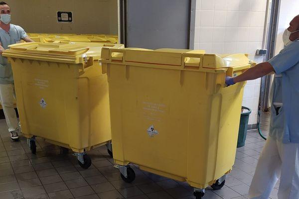 A l'hôpital de Guéret, la collecte de déchets infectieux est passée à 6 jours sur 7 au lieu de 5 jours sur 7
