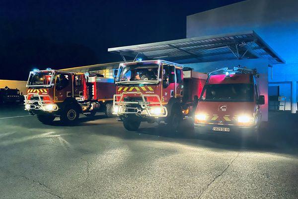 11 pompiers corréziens sont partis dans l'Aude cette nuit.