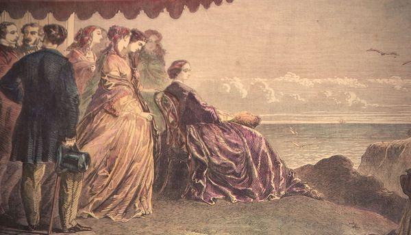 L'Impératrice Eugénie reçoit les têtes couronnées et Biarritz devient une station balnéaire à la mode
