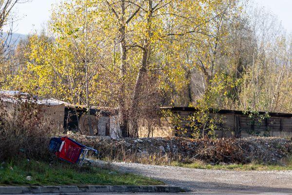 Le camp de Roms des Ilettes à Annecy a été évacué par les forces de l'ordre. Photo d'archives.