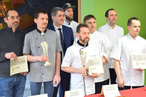 """Les lauréats du concours """" Meilleures galettes feuilletées aux Amandes du Grand Est 2018 ''/ janvier 2018"""