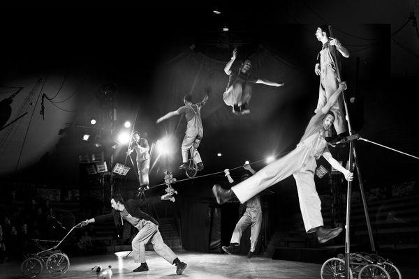 """Le Cirque Content Pour Peu, avec son spectacle """" Le Laïus Lucien Show """", invité de cette première édition de La Belle Virée."""