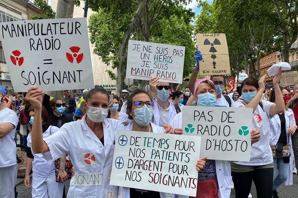 Au départ de la manifestation, mardi 16 juin à Toulouse