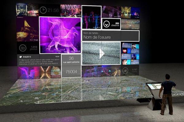 #nuitblanche : vos photos de nuit blanche à découvrir en temps réel sur un écran interactif de 80m2!