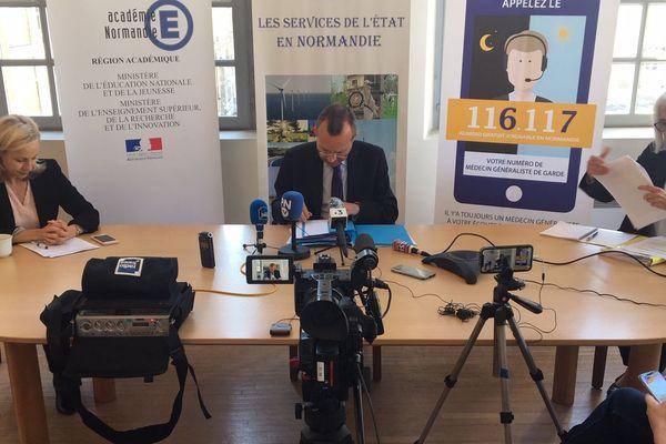 Nouveau point presse organisé à la préfecture de Seine-Maritime