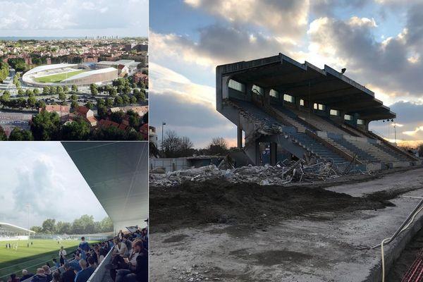 """En cours de déconstruction, le vieux stade Tribut de Dunkerque fera place à un """"objet elliptique""""."""