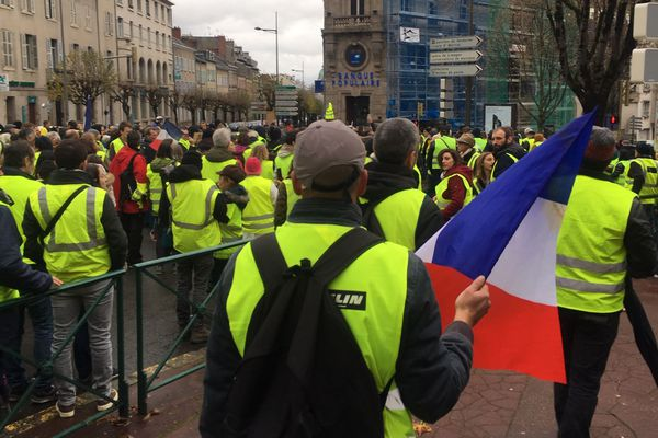 Marche de Gilets jaunes à Limoges. PHOTO D'ARCHIVES.