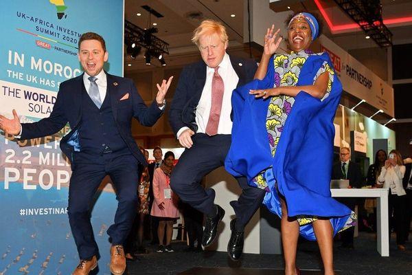 Boris Johnson ce lundi à Londres au sommet de l'investissement Royaume-Uni-Afrique.