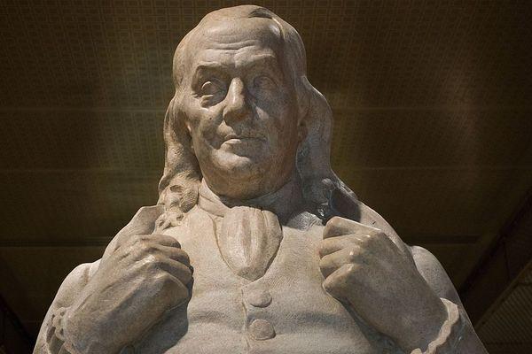 Statue de Benjamin Franklin, l'un des pères fondateurs des États-Unis. AFP Getty ImagesPaul J. Richards