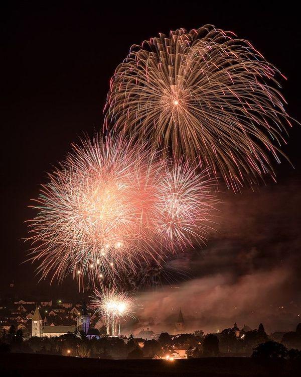 Le feu d'artifice de Wissembourg.