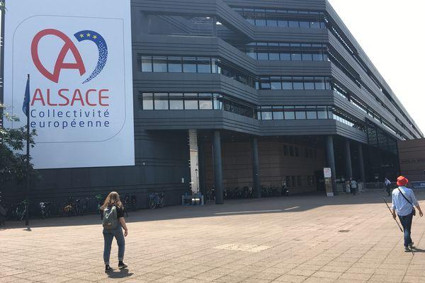 Le siège (provisoire) de la Collectivité européenne d'Alsace (CEA) se trouve à l'hôtel du département (siège du Bas-Rhin jusque là).