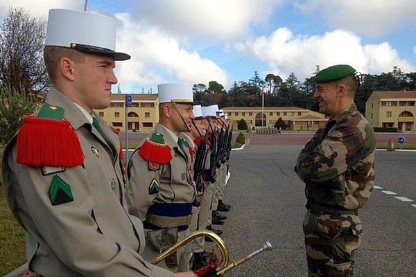 Castelnaudary (Aude) - 600 recrues stagiaires sont en formation - novembre 2015.