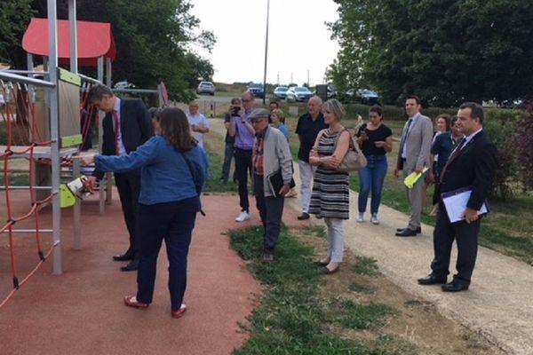 Visite du préfet de Meurthe-et-Moselle, Eric Freysselinard et des services de l'Etat à la base de loisirs Solan de Moineville