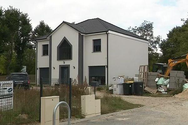 Septembre 2018-Val de Reuil (Eure) : chantier de construction de villas de standing
