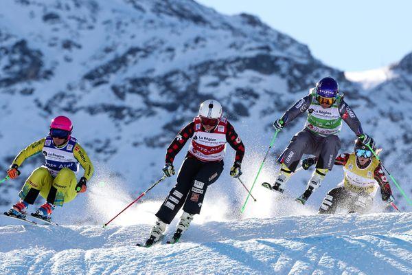 La Coupe du monde ski cross à Val Thorens (Savoie) le 7 décembre 2017.