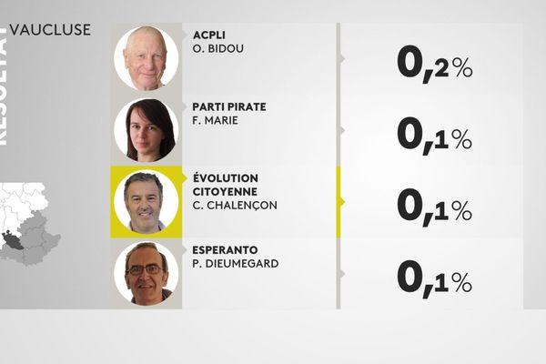 Elections européennes, le résultat de Christophe Chalençon dans le Vaucluse.