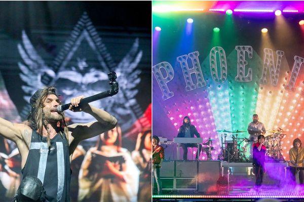 Shaka Ponk à gauche et Phoenix, à droite, se produiront sur la scène Zanzibar du Cabaret Vert le samedi soir