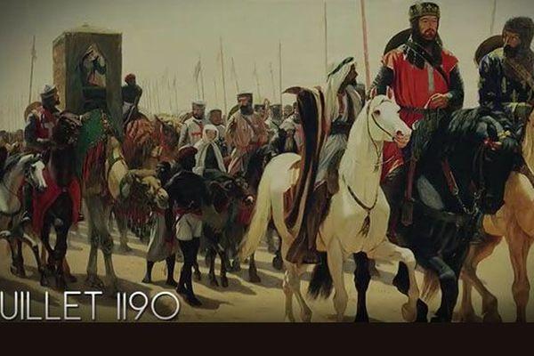 Richard Cœur de Lion et Philippe Auguste en route vers la terre sainte pour reconquérir Jérusalem