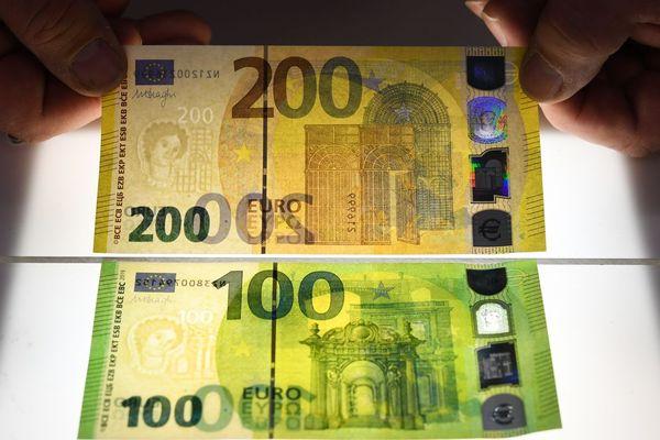 Les nouveaux billets de 100 ou 200 euros
