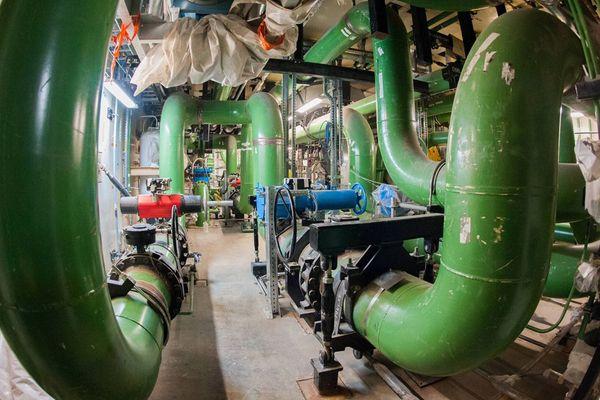 Dans le bâtiment réacteur de l'EPR de Flamanville (Mars 2016)