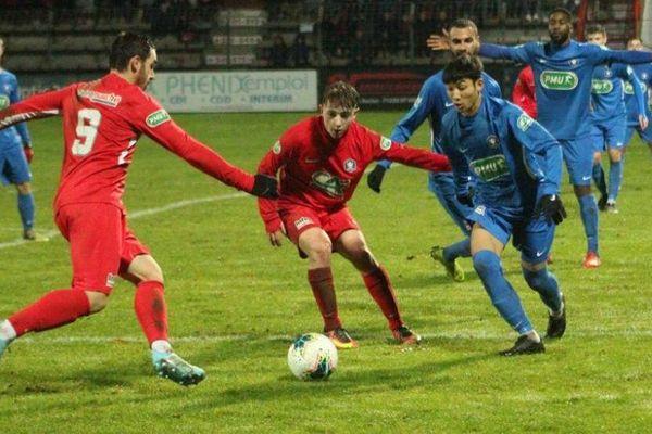 Match FCMB Montceau-Racing Besançon 8e tour de la Coupe de France