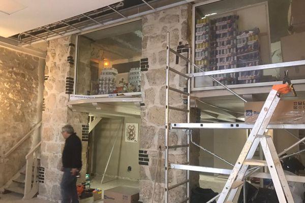 Les locaux de la FACE06 sont en travaux pour les aménager en restaurant.