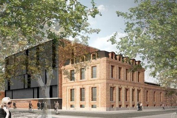 Le projet de bâtiment pour les locaux de Sciences Po Toulouse du Cabinet GGR Architectes