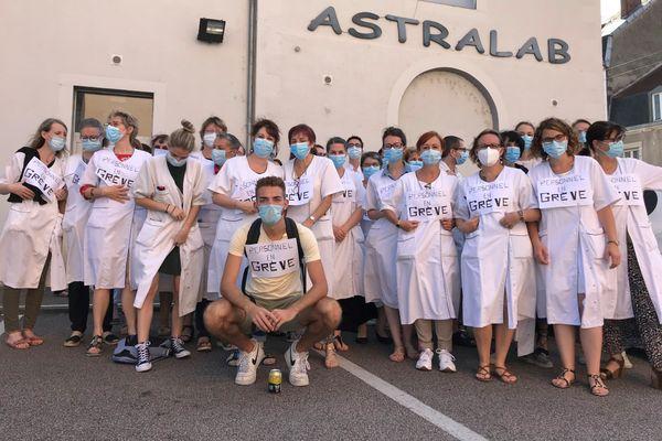 Mouvement de grève au laboratoire Astralab de Limoges, le 17 septembre 2020.
