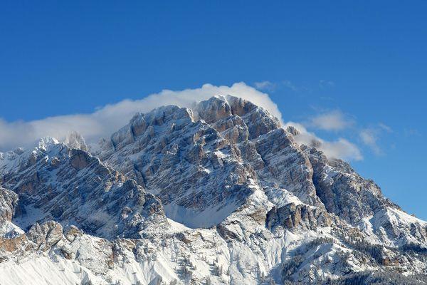 Les Dolomites se sont retrouvées sous la neige.