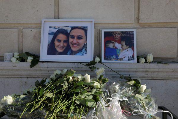 Cérémonie en hommage à Mauranne et Laura, cousines, assassinées le 01 Octobre 2017, à la Gare Saint-Charles à Marseille.