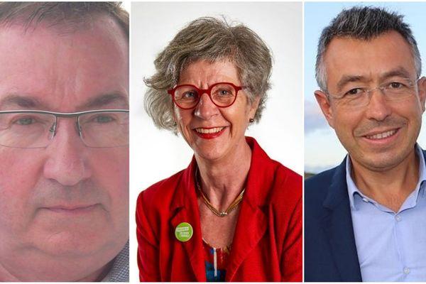 Marc Bigot, Elisabeth Janvier et Anthony Le Bras (de g à d) sont face à face pour le 2e tour des municipales à Concarneau