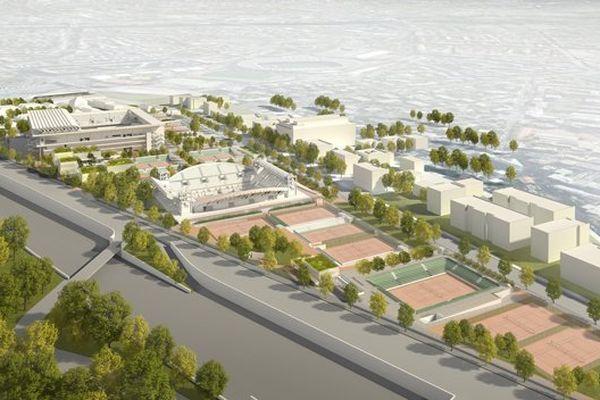 Pour tenir compte des besoins de la FFT dont le siège permanent est au stade Roland-Garros, le projet prévoit deux périmètres : un périmètre « étendu » pour les 3 semaines du tournoi (11,16 ha) et un périmètre « rétracté » le reste de l'année (8,6 ha).