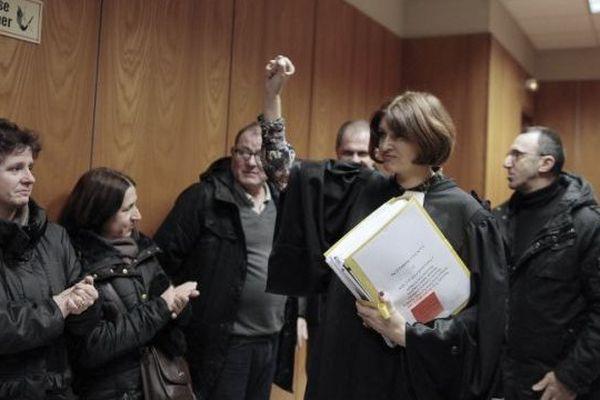 Elise Brand, l'avocate des Jeannette , au tribunal le 5 février 2015