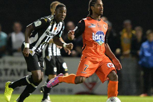 Wesley Said a inscrit le but lavallois contre Châteauroux (ici, Saïd lors de la 7ème journée contre Angers)