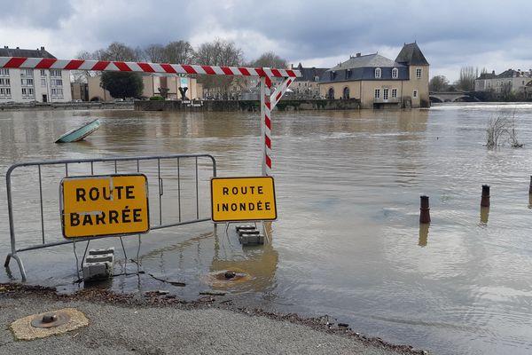 Le Loir en pré-crue dans la Sarthe, en mars 2020 - Photo d'illustration