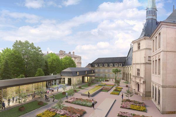 Le nouveau projet pour les jardins du palais ducal