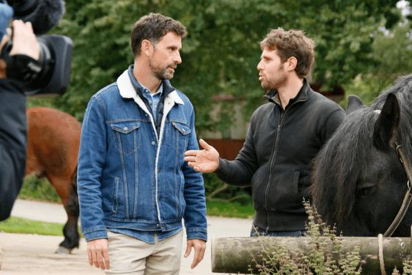 Vincent et Emmanuel, en tournage