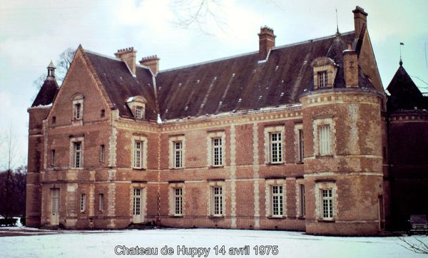 Le château de Huppy en 1975.