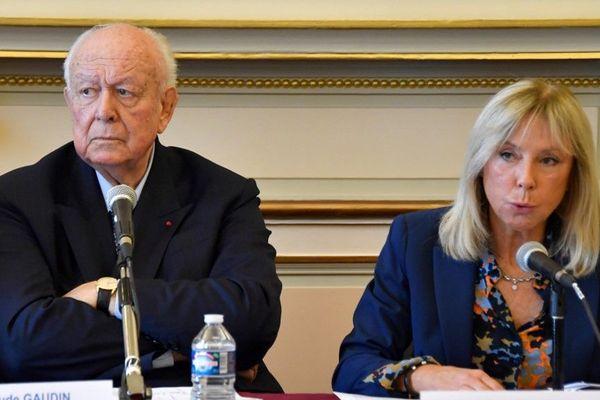 Arlette Fructus aux côtés de Jean-Claude Gaudin, en novembre 2018