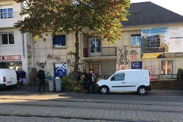 Expulsion des migrants de la rue de l'Amiral Courbet à Nantes, le 3 septembre 2019