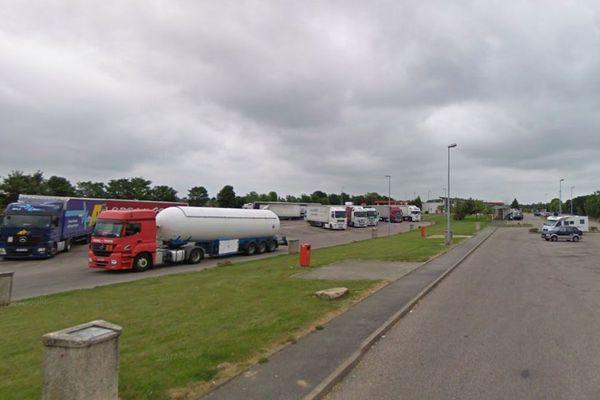 Aire de repos et station service de Bosc-Mesnil sur l'A28, entre Rouen et Neufchâtel en Bray (Seine-Maritime)