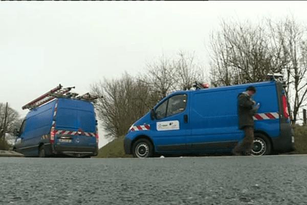 Les équipes d'ERDF sont à pied d'oeuvre pour rétablir le courant dans la région.