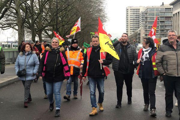 Le départ vers le point de ralliement des manifestants à Rouen