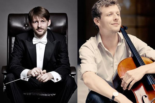 Le chef Gábor Káli et le violoncelliste István Várdai pour le concert live de l'ONCT du 28 novembre 2020