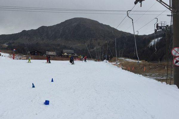 5 pistes ont été ouvertes grâce à de la neige de culture à Isola 2000