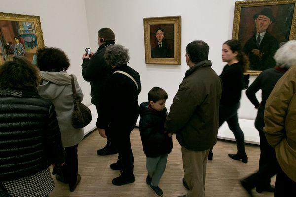 Beaucoup de monde pour admirer depuis deux mois les oeuvres du célèbre peintre et sculpteur italien.