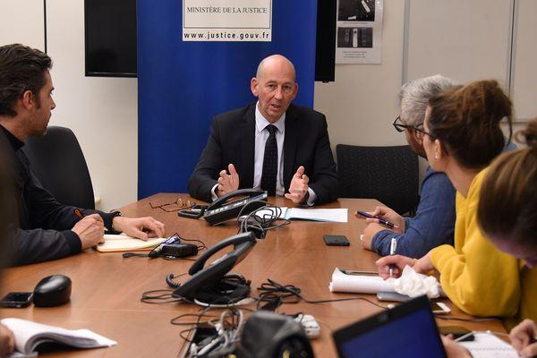 Christophe Barret, procureur de la République de Montpellier annonce la mise en examen du doyen et un professeur de la faculté de droit.