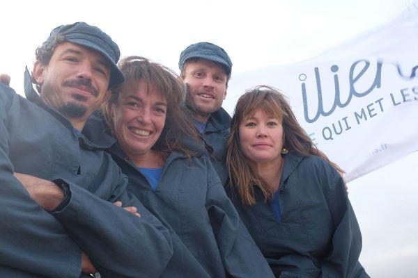 Léon Passuello, Lou Le Galliot, Jonas Duvivier et Inès Hoingnet, les quatre associés de la compagnie maritime Iliens