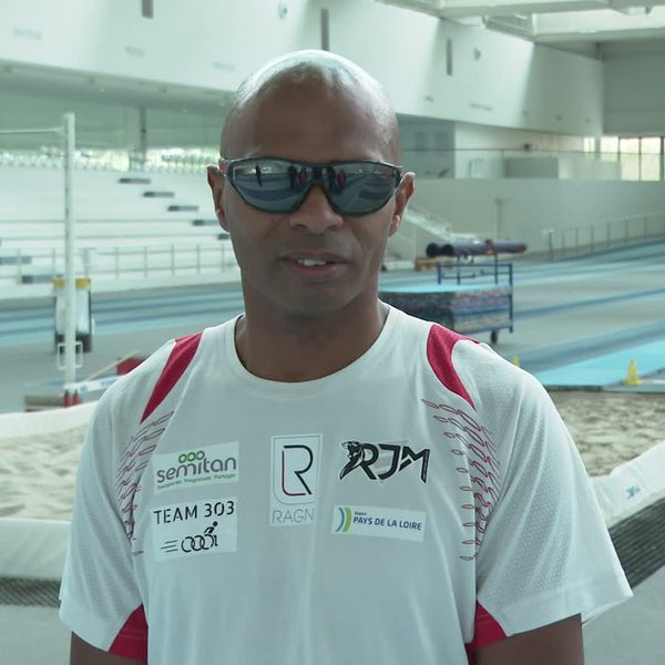 Ronan Pallier, champion d'Europe saut en longueur 2021 handisport
